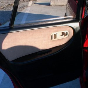 Painted rear drivers side door panel