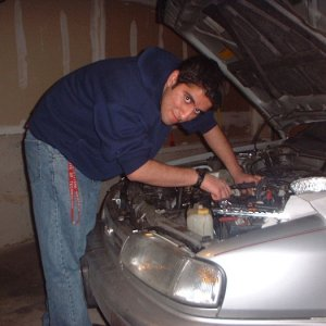 Me working on my car