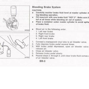 P10 93.5 FSM - Brake Bleeding Order [BR-3]